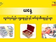 ဩဂုတ် (၂၁) ရက်နေ့ ရန်ကုန် နိုင်ငံခြားငွေလဲလှယ်နှုန်း၊ စက်သုံးဆီဈေးနှင့် ရွှေဈေးများ